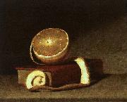 Still Life with Orange and Book, Raphaelle Peale